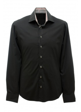 Luigi Camicie Marco - Shirt - Black, grey